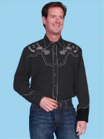 ZSold Scully Men's Vintage Western Shirt: Poker Playing Ponies Out of Production SOLD