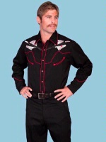 ZSold SALE Scully Men's Vintage Western Shirt: Shootin' the Cards 4XL SOLD