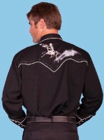 ZSold Scully Men's Vintage Western Shirt: Skeleton Rider  S-4X SOLD