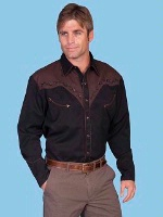 ZSold Scully Men's Vintage Western Shirt: Running Horse S-4X SOLD
