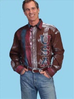 ZSold Scully Men's Western Shirt: The Patriot USA L SOLD