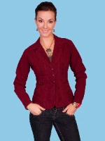 ZSold Scully Ladies' Cantina Collection Jacket: Pockets Burgundy M SOLD