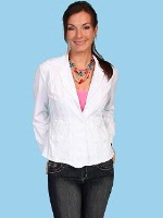 ZSold Scully Ladies' Cantina Collection Jacket: Pockets White M SOLD