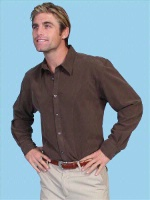 ZSold Scully Men's Western Shirt: Western Lifestyle Button Brown M, XL SOLD