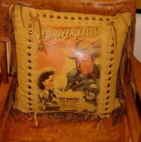 ZSold Patricia Wolf Pillow: Roy Rogers