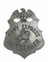 Colorado Silver Star Old West Badge: Pony Express Messenger