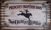 ZSold Cowboy Brand Furniture: Wall Sign-Rodeo-Prescott Frontier Days