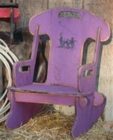 Cowboy Brand Furniture: Rocker Puzzle Running Horses