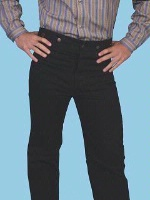 Scully Men's Old West Pant: Rangewear Pant Cotton Black 28-42 Big/Tall 44-52 Unisex