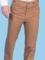 ZSold Scully Men's Old West Pant: Rangewear Pant Cotton Brown 28-42 Big/Tall 44-52 Unisex