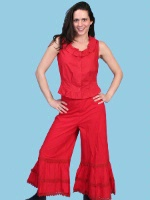 Scully Ladies' Old West Pant: Rangewear Bloomers Red
