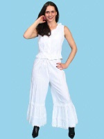 Scully Ladies' Old West Pant: Rangewear Bloomers White