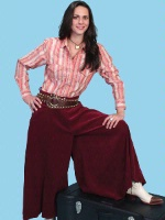 ZSold Scully Ladies' Old West Pant Skirt: Rangewear Riding Split Skirt Polyester Burgundy  SOLD