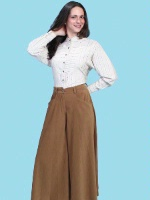 ZSold Scully Ladies' Old West Pant Skirt: Rangewear Riding Split Skirt Polyester Tan XS-2XL SOLD
