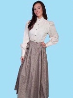 ZSold Scully Ladies' Old West Skirt: Rangewear Prairie Style Pink Print L-XL SOLD