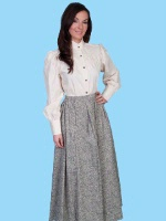 ZSold Scully Ladies' Old West Skirt: Rangewear Prairie Style Tan Print M-XL SOLD