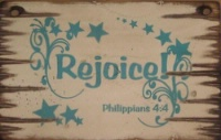 Cowboy Brand Furniture: Wall Sign-Faith REJOICE