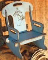 Cowboy Brand Furniture: Rocker Puzzle Bronc