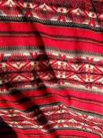 ZSold Rockmount Ranch Wear Blanket: Classic Native American Design Red Tan SOLD