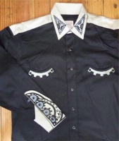 Rockmount Ranch Wear Men's Vintage Western Shirt: Fancy Steampunk Western 2 Tone Shirt 2X
