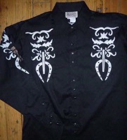 ZSold Rockmount Ranch Wear Men's Vintage Western Shirt: Fancy Cisco Kid Rides Again S-XL SOLD