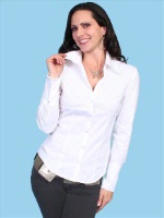 ZSold Scully Ladies' Honey Creek Collection Blouse: Stretch Pin Tuck Blouse White SOLD
