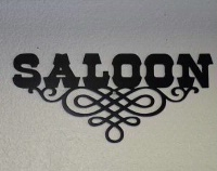 A Wall Metal Sign: Saloon