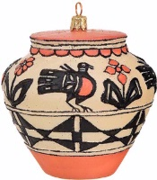 Artistry of Poland Ornament: Southwest Pot Santo Domingo