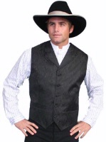 Scully Men's Old West Vest: Rangewear Paisley Black