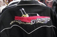 Scully Men's Vintage Western Shirt: Cars and Guitars
