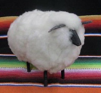 ZSold Navajo Folk Art: Ruby Growler Sheep Small White SOLD