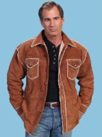 ZSold Scully Men's Leather Jacket: Casual Suede Shirt Jacket w Faux Fur S-2XL SOLD