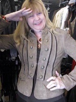 ZSold Scully Ladies' Leather Suede Jacket: Military Style Green SOLD