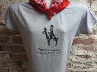 ZSold Side Saddle Vintage Cowgirl T-Shirt: Does This Saddle Make Me Look Fat? SOLD