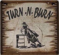 Cowboy Brand Furniture: Wall Sign-Horses-Turn-N-Burn
