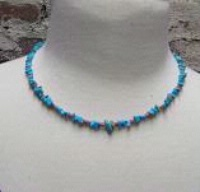 ZSold Silver Sun: Turquoise Chips Necklace SOLD