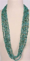 ZSold Silver Sun: Turquoise 5 Strand Necklace SOLD
