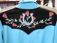 A Scully Ladies' Vintage Western Shirt: Lucky Horseshoes and Roses