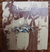 Side Saddle Necklace: Horse Team