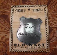 Colorado Silver Star Old West Badge: U.S. Marshal Shield