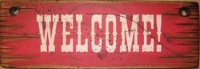 Cowboy Brand Furniture: Wall Sign-Business-Welcome