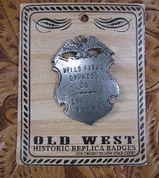 ZSold Colorado Silver Star Old West Badge: Wells Fargo Express SOLD