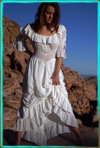 A Marrika Nakk:  Western Cowgirl Dress Ivory