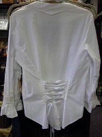 Scully Ladies' Honey Creek Collection Blouse: The Steampunk Retro Peasant Top White