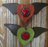 ZSold Casa Tranquila Designs: Ornament Winged Hearts SOLD