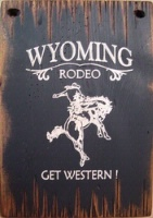 ZSold Cowboy Brand Furniture Wall Sign Rodeo: Rodeo Wyoming Rodeo Get Western