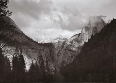 Photographer In The Lens, Bill Birkemeier: Art Print Yosemite Valley B&W