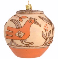 ZSold Artistry of Poland Ornament: Southwest Pot Zia SOLD