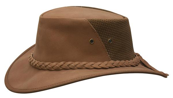Conner Handmade Hats Cowboy Western Style Leather: Down Under Breezer Clay