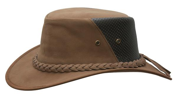 Conner Handmade Hats Cowboy Western Style Leather: Down Under Breezer Mocha